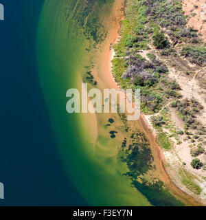 Aerial view of Colorado River, abstract natural background, Horseshoe Bend in Arizona, USA. - Stock Image