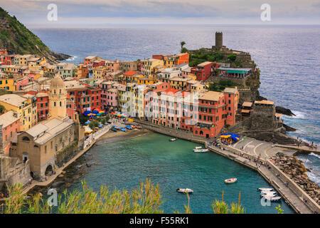 Vernazza (Latin: Vulnetia) is a town and commune located in the province of La Spezia, Liguria, northwestern Italy. - Stock-Bilder