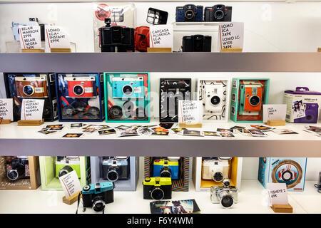 Spain, Europe, Spanish, Hispanic, Madrid, Calle Argensola, Lomography Spain, Caprilephoto, photography store, LCA - Stock Image