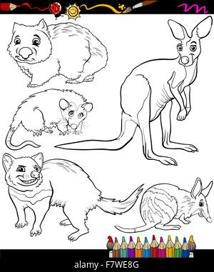 Cartoon Illustration Cute Bandicoot Bilby Stock Photos Cartoon