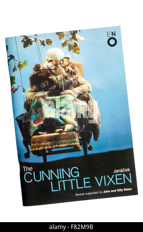 Programme for the 2001 English National Opera production of The Cunning Little Vixen by Leos Janacek at The London - Stock Image