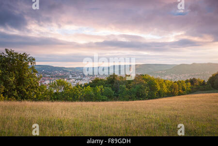 Jena at sunrise, Thuringia, Germany - Stock Image