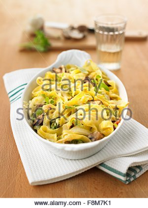 Chinese cabbage pasta bake - Stock Image