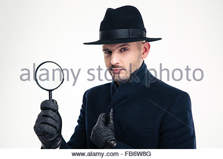 Image result for inspector long coat magnifying glass pics