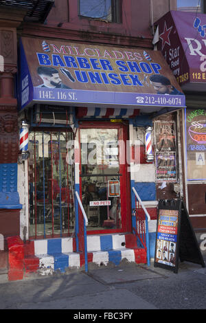 Barber Shop In Spanish : 116th st in spanish harlem nyc new york usa chinatown barber shop