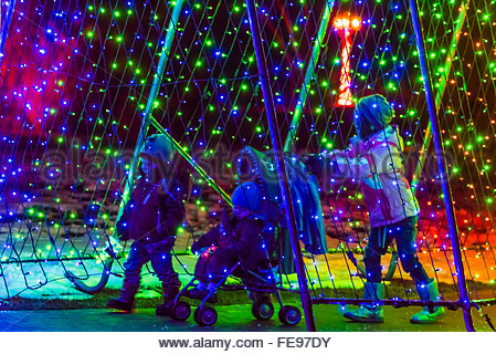 Christmas Lights Tunnel Stock Photos Christmas Lights Tunnel Stock Images Alamy