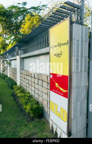 Aung San Suu Kyi residence. Rangoon, Burma - Stock-Bilder