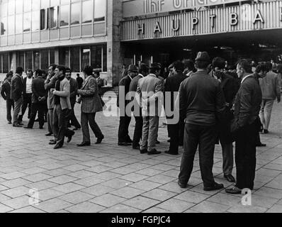 Foreign workers, Munich, 1972 - Stock Image