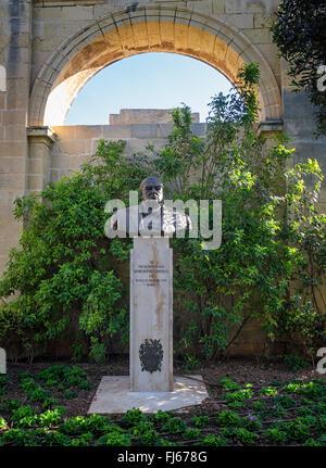 Sir Winston Churchill memorial in Upper Barrakka Gardens, Valletta, Malta - Stock Image