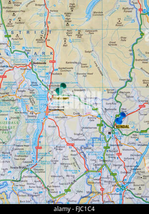 Map of the lake district cumbria