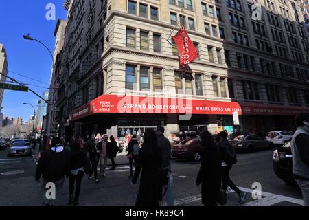 Strand Bookstore Broadway and 12th St. Manhattan New York City - Stock Image