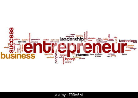 Entrepreneur word cloud concept - Stock-Bilder