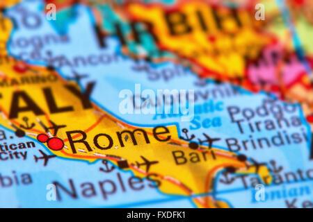 Map City Rome Stock Photos Map City Rome Stock Images Alamy - Rome map cartoon