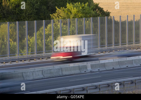 noise protection wall - Stock Image