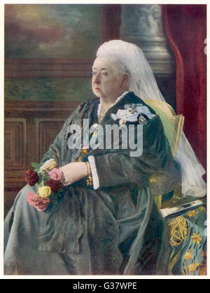 QUEEN VICTORIA  Original Photograph from 1899.        Date: 1819 - 1901 - Stock Image