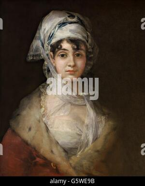 Portrait of the actress Antonia Zarate, by Francisco Goya, Circa 1810-1811. Hermitage State Museum, Saint Petersburg, - Stock-Bilder