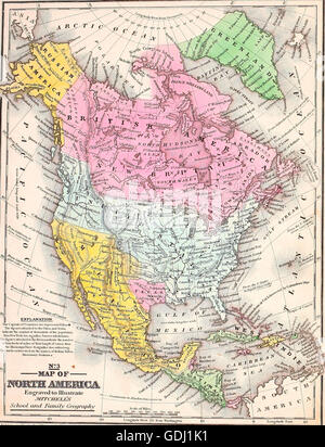 Map America Canada States Stock Photos  Map America Canada States