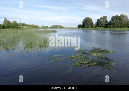 Salaca river. Salacgriva Latvia - Stock Image
