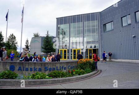front of the Alaska Sea Life Center (Alaskas premier public aquarium ...