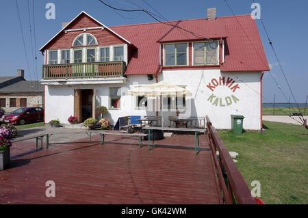 Kalda kohvik. Cafe Kalda. Sadama 8 street Orissaare. Saaremaa. Estonia - Stock Image