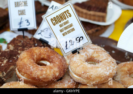 cronuts half donut half croissant pastry - Stock Image