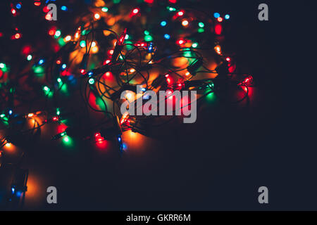 Christmas String Lights Background : String Of Lights Blue Stock Photos & String Of Lights Blue Stock Images - Alamy