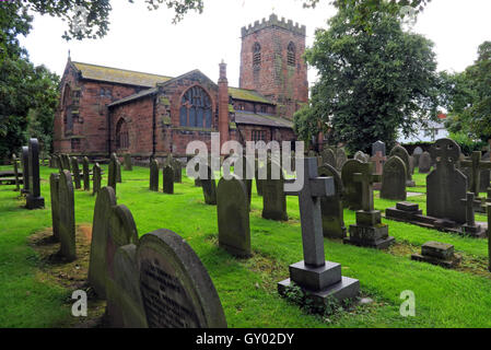 Exterior of St Wilfrids church,Grappenhall,Warrington,Cheshire England UK - Stock Image
