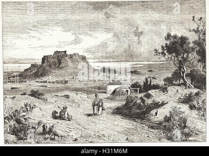 ATHENS - from 'Cassell's Illustrated Universal History' - 1882 - Stock Image