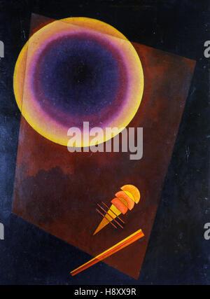 KANDINSKY - Kreis, Circle with brown - 1929 - Stock Image