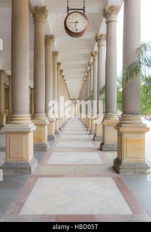 Karlovy Vary Mill Colonnade Corridor - Stock-Bilder
