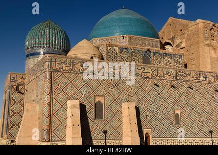 Evening light on Mausoleum of Khoja Ahmed Yasawi in Turkistan Kazakstan - Stock Image