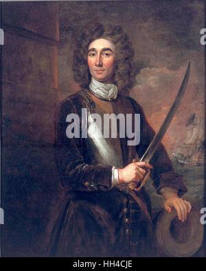 Vice-Admiral John Benbow (1653-1702) circa 1701 - Stock Image