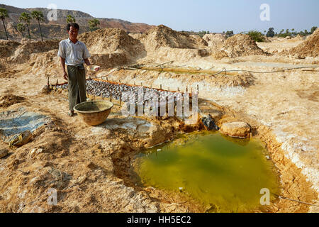 Copper Mining, Salingyi Township, Sagaing Region, Myanmar - Stock-Bilder