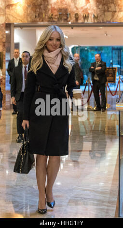 New York, USA. 19th Jan, 2017. Tiffany Trump leaves Trump Tower in New York, NY, USA on January 19, 2017. Credit: - Stock Image