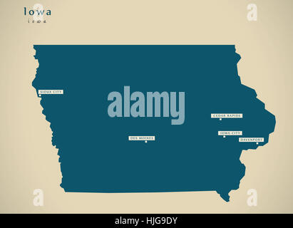 Iowa State Map Stock Photos Iowa State Map Stock Images Alamy - Iowa state in usa map