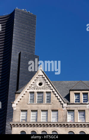 Old and new urban architecture in  Seattle, Washington state, USA - Stock Image