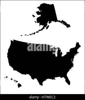 United States Map Black And White Stock Photos Images Alamy - The great cauldron us map