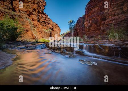 Calamine Gorge - Karijini National Park, The Pilbera, Western Australia - Stock-Bilder