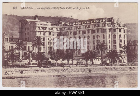 Le Majestic Hotel, Cannes, France - Stock Image