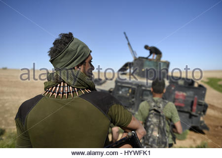 Hatra, Iraq. 26th Apr, 2017. A member of ther Iraqi pro-government forces from Popular Mobilization Units (PMU) - Stock Image