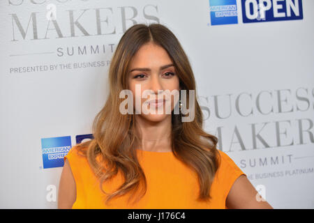 New York, USA. 17th Apr, 2017. Actress Jessica Alba attends the 2017 Success Makers Summit at Spring Place on April - Stock Image