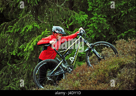 MTB Outdoors, Thuringian Forest, Germany - Stock-Bilder