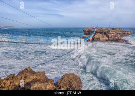 cable car at Timang beach, Yogyakarta, Java, Indonesia, Asia - Stock-Bilder