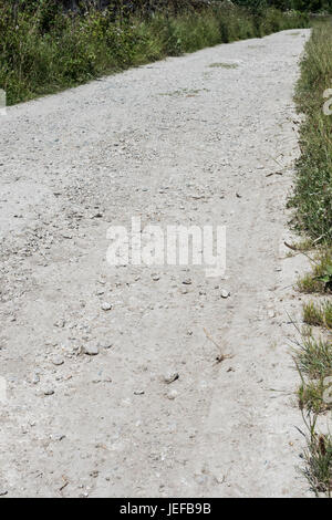Dirt track leading off into the distance - visual metaphor for numerous sayings about roads. - Stock Image