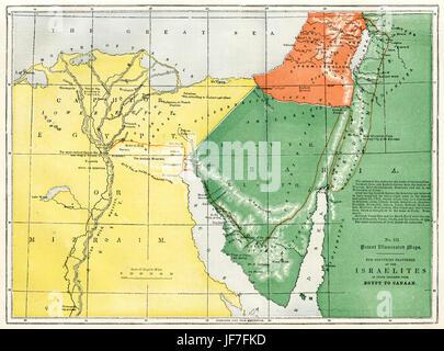 Map Bible Canaan Stock Photos Map Bible Canaan Stock Images Alamy - Map of egypt canaan