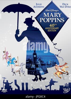 MOVIE POSTER MARY POPPINS (1964) - Stock Image