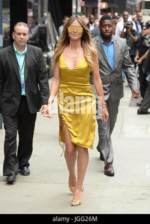 New York, NY, USA. 6th July, 2017. Heidi Klum out and about for Celebrity Candids - THU, New York, NY July 6, 2017. - Stock Image