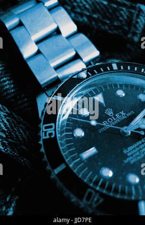 rolex submariner luxury mechanical swiss watch - Stock Image