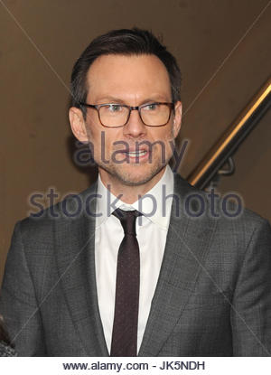 christian Slater. NEW YORK, NY - January 21: Julianna Margulies, Jeff Daniels, Annaleigh Ashford, David Hyde Pierce, - Stock Image