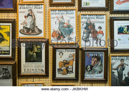 USA, Vermont, Rutland, Norman Rockwell Museum of Vermont, Museum dedicated to artist and illustrator Norman Rockwell, - Stock Image